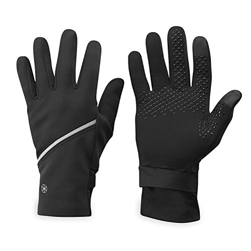 Gaiam Running Gloves Womens Cold Weather Touchscreen Compatible - Warm Winter Running Gear for Women - Walking, Running, Hiking, Biking/Cycling, Workout, Exercise/Fitness (L/XL)