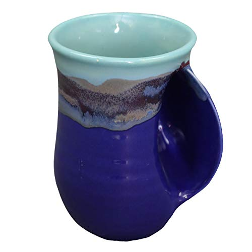 Clay in Motion Handwarmer Mug - Right Hand (Mystic Water)