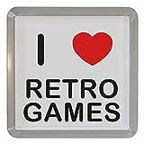 I Love Retro Games - Durchsichtigen Kunststoff Teeküstenmotorschiff/Bierdeckel