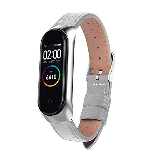 Correa de reloj para Xiaomi Mi Band6 / 5/4 Correa de reloj Correa de muñeca de cuero para xiaomi mi band 4 accesorios pulsera Miband5 / 4/3 Correa