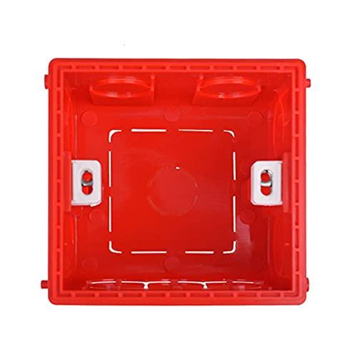 Caja Conexiones Electricas Caja de montaje ajustable 2 unids Cassette interno 86 mm * 85 mm * 50 mm para interruptor de tipo 86 Caja de cables azules de enchufe de tipo rojo blanco Caja De Empalmes