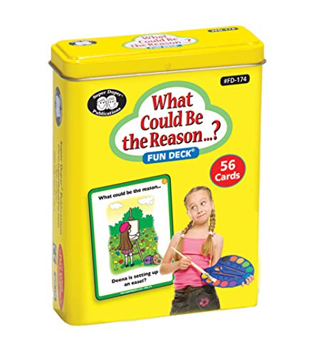 Super Duper Publications What Could Be The Reason...? Fun Deck Flash Cards Educational Learning Resource for Children
