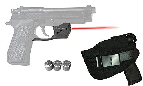 Laser Kit for Beretta 92, 96, 92FS, 96FS, M9 w/ Holster, Touch-Activated ArmaLaser TR20 Red Laser & 2 Extra Batteries