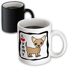 "3dRose mug_12071_3""I Love My Chihuahua Tan"" Magic Transforming Mug, 11 oz, Multicolor"