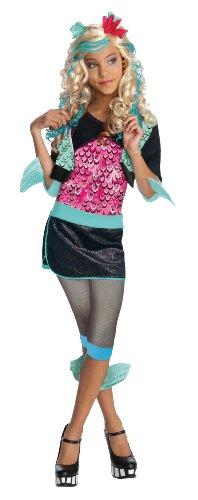 Monster High - Disfraz de Lagoona Blue para niña, infantil 8-10 años (Rubie's 884789-L)