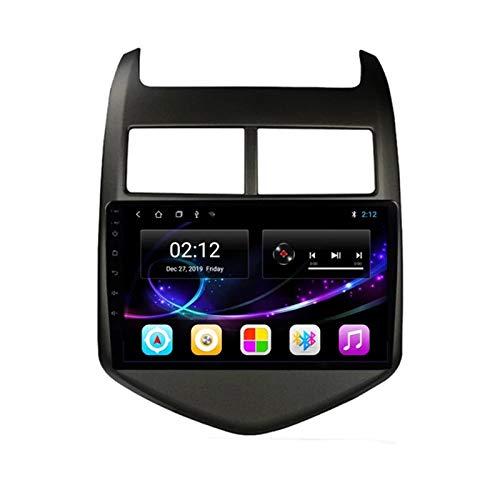 Radio Estéreo De Coche Bluetooth Apoyo De Reproductor MP5 Llamadas Manos Libres/Radio FM/Enlace Espejo/WiFi/AUX Entrada/1080P Video/SWC, para Chevrolet Aveo 2011-2013,Octa Core,4G WiFi 4+64