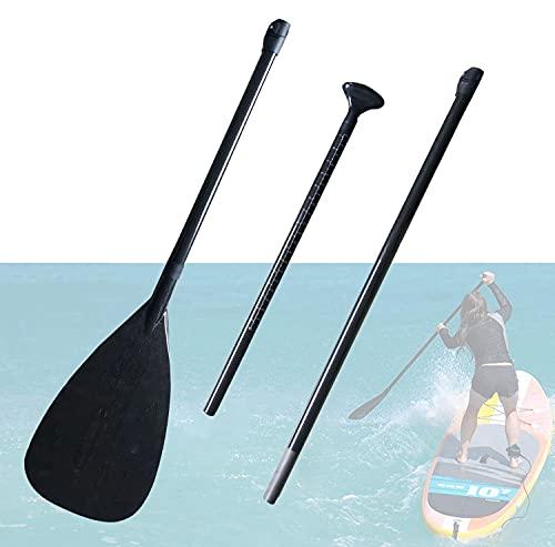 Niguleser Remo de Fibra de Carbono para Kayak, Ajustable de 185 a 220 cm