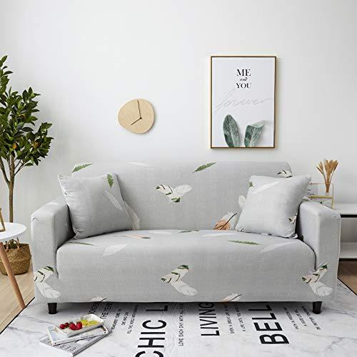 XVBABY Sofa Überwürfeall-Inclusive Universal-Sofabezug, DREI-Jahreszeiten-Universal-Sofabezug Für DREI Personen (190-230 cm) Hellgraue Feder