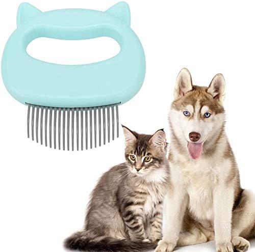YUEKUN Katzenkamm Massagekamm Relaxend für Haustiere zur Haarentfernung Shedding Reinigungsbürste Hundes Knoten offen Massage Kamm