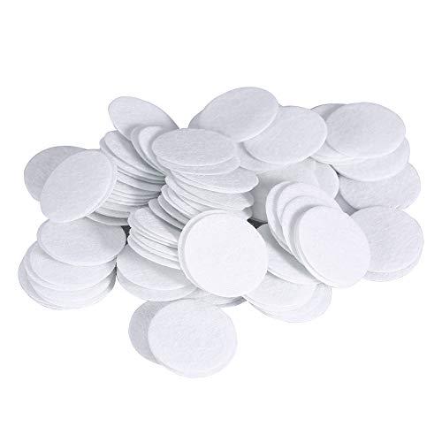 Filtres filtres en coton, 100pcs nouveaux filtres en coton tampons ronds filtrants pour la beauté Dermabrasion Diamond Peeling suppression Blackhead Machine (25mm)