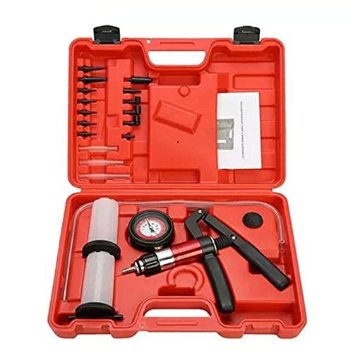 Kit de herramientas de sintonizador de prueba de bomba de vacío de purgador de frenos, herramienta de diagnóstico automático, adaptador de purgador de frenos de bomba de pistola de vacío de mano autom