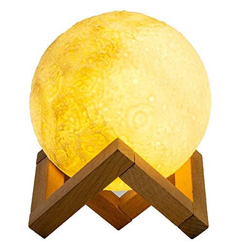Night Light - Moulage par injection 3D, 2000mAh, 3 couleurs commutables, gradation en continu, 3 lumières de nuit créatives Dream Dream, Luminous, Convient à la famille, Extérieur, Chambre à coucher,