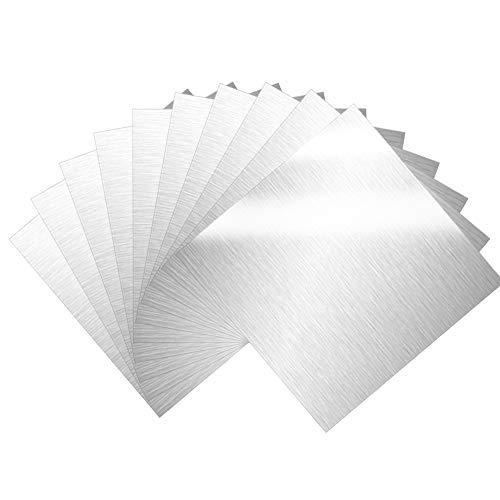 WANTOUTH 12 pcs Plancha Aluminio 15cm * 15cm Chapa de