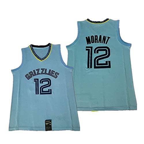 WEIZI Memphis Grizzlies Ja Morant #12 Camiseta de Baloncesto para Hombres Retro Chaleco de Gimnasia Top Deportivo Jerseys (Tamaño: S-XXL)