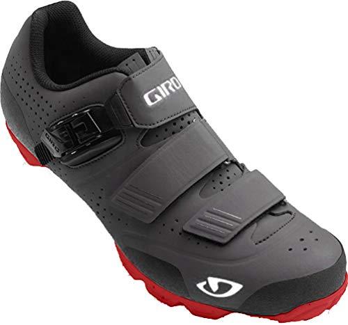 Giro Giro Herren Privateer R MTB Radsportschuhe - Mountainbike, Mehrfarbig (Dark Shadow/Dark Red 000), 44.5 EU
