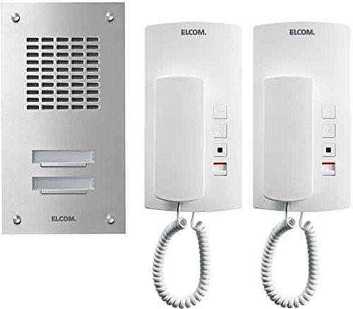 Elcom UP-1+n-Audioset ASZ-2 EM 2Tln. Edelstahl ESTA Türsprech-Set 4250111821155
