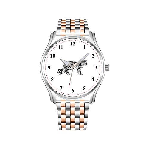 Reloj de pulsera para hombre, oro rosa, acero inoxidable, deportivo, reloj de negocios, pulsera con bandera turca