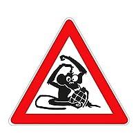車 ステッカーデカール-カラーカーステッカー警告モンキーカー面白いカーステッカーオートバイトランク防水デカールPVC15cmx13cmスタイル
