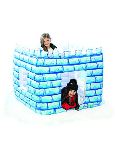 Snow Candy Kids Inflatable Snow Castle for Indoor Outdoor Play - Castle Fortress/Play Tent