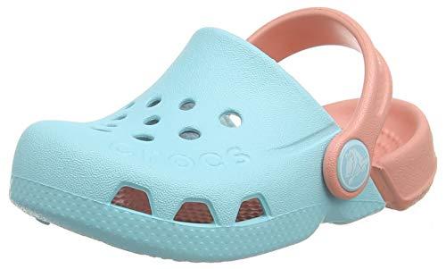 Crocs Kids Electro (Toddler/Little Kid) Ice Blue/Melon 9 Toddler
