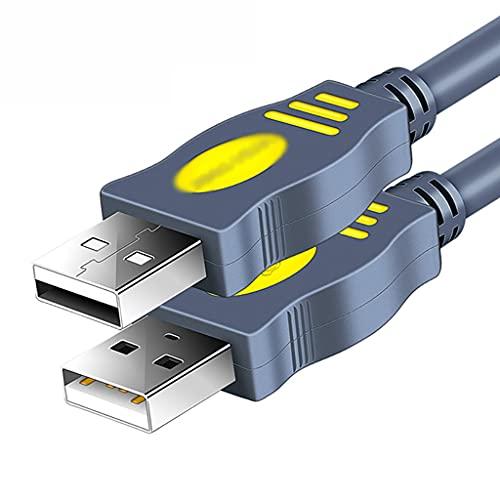 AWYST Cable Cable USB Macho a Macho USB al Cable USB Cordón USB de Doble Extremo para gabinetes de Disco Duro, Reproductor de DVD, refrigerador portátil Cargador (tamaño : 5M)