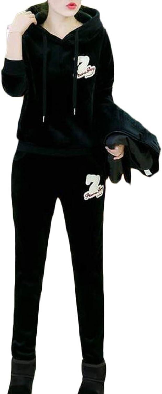 TDCACA Women's 3 Pieces Set Sweatshirt + Vest + Pants Sweatsuits Set Tracksuits
