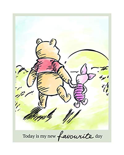 Disney Wandbild von Komar  | Winnie Pooh Today | Kinderzimmer, Babyzimmer, Dekoration, Kunstdruck | Größe 40x50cm (Breite x Höhe)   |  ohne Rahmen   | WB064-40x50