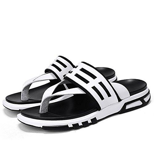 Zjcpow Zapatillas de playa para hombre, para verano, informales, suaves, duraderas, adecuadas para primavera y verano, otoño (color: blanco, tamaño: 8,5 UK)