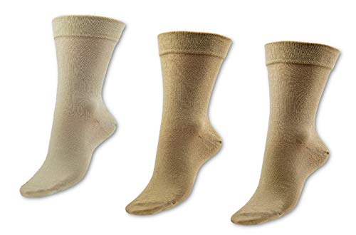 Vitopia 6 Paar Diabetiker-Socken Herren   Extra weiter Schaft ohne Gummi-Druck  Venenfre&liche Ges&heitssocken