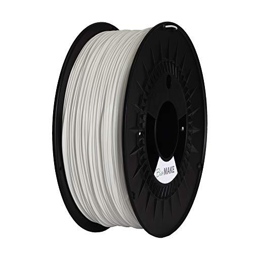 MAKE A SHAPE Filamento Stampa 3D BioMake MaterBi  SPECIAL 1.75 mm, tolleranza dimensionale +/- 0,02 mm, bobina da 1Kg, Bianco Perla