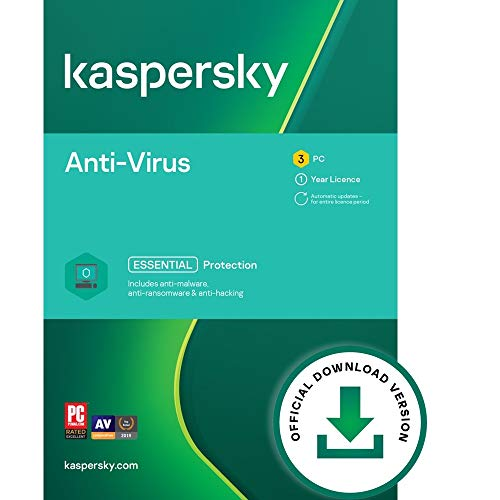 Kaspersky Anti-Virus 2021 | 3 Devices | 1 Year | PC | Online Code