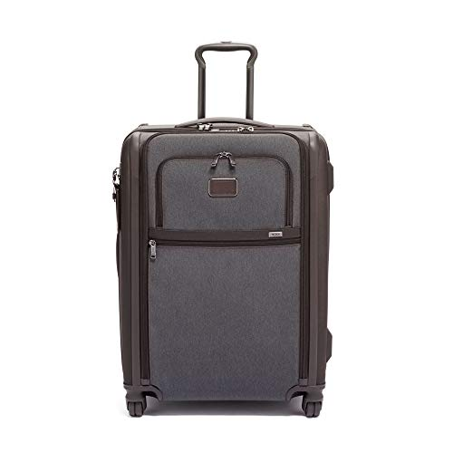 TUMI - Alpha 3 Short Trip Expandable 4 Wheeled Packing Case Suitcase - Rolling Luggage for Men and Women - Anthracite