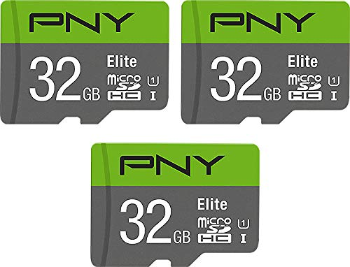 Price comparison product image PNY 32GB Elite Class 10 U1 MicroSDHC Flash Memory Card 3-Pack