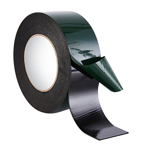 10 m (50 mm) Schaumstoff Klebeband Doppelseitiges Schwamm Band Wasserdichte Montage Klebeband Rolle Automotive Grade Nummernschild Auto Verzierungen, Schwarz