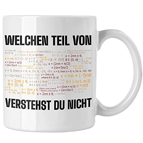 Trendation Mathelehrer Tasse Mathematiker Physik Tassen mit Spruch Lustig Kaffeetasse Physiker Geschenk Mathestudent