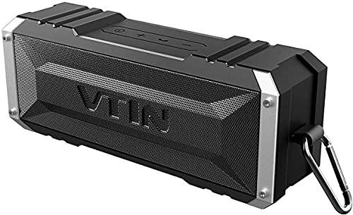 VTIN Punker Tragbarer Lautsprecher, Bluetooth, 30 Stunden Lautsprecher, kabellos, mit Stereo-Sound, 20 W stark, IPX5, wasserdicht, abnehmbarer Haken, tragbarer Lautsprecher (schwarz)