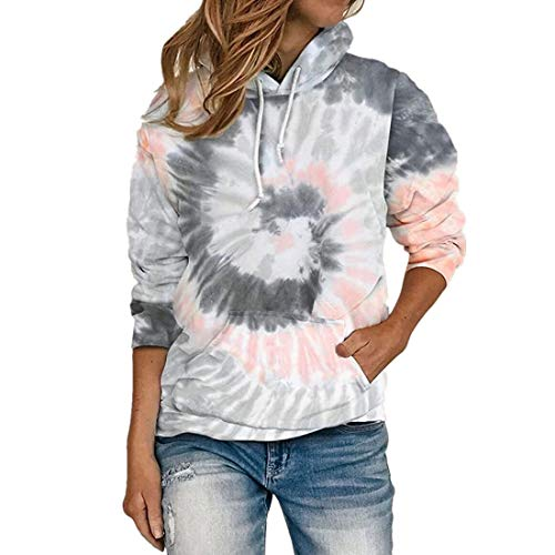 Pullover Shirt Damen Langarm Herbst Winter Tops Elegant Leichte Hoodie Locker Buntes...