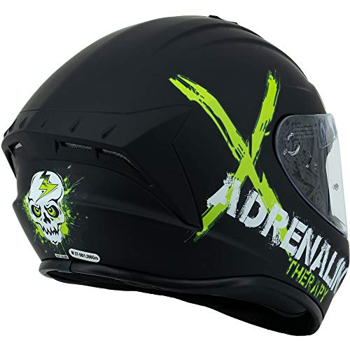 Broken Head Adrenalin Therapy II matt (M 57-58 cm) Motorradhelm – Helm grün – Integralhelm - 7