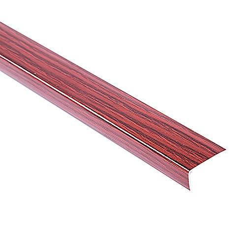 Nariz Antideslizante de Escalera 1,5 M longitud de madera aluminio escalera anti deslizamiento sin deslizamiento 28x12 mm ángulo paso escalera escaleras anti-colisión ángulo 2 piezas Adecuado para Esc