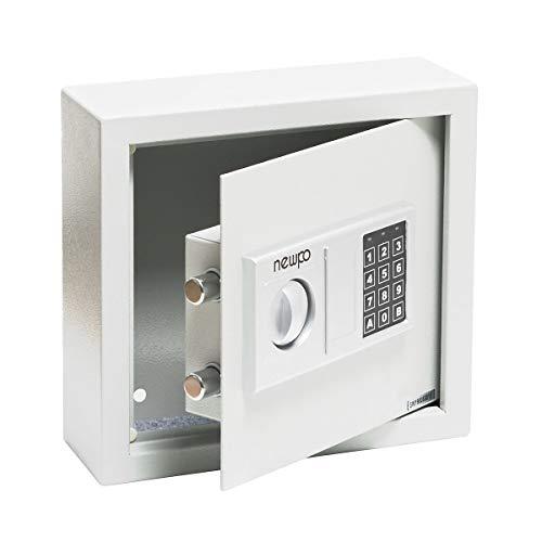 newpo Schlüsselschrank mit Zahlencode | Platz für 30 Schlüssel | Elektronikschloss Safe Schlüsseltresor Tresor Schlüsselbox Schlüsselkasten