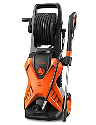 Electric Pressure Power Washer,150Bar 2000W High Jet Washer Portable Car Washer Machine with Spray Gun,26ft High Pressure Hose and Hose Reel,Jet Wash for Deep Clean Patios Fences Garden from PAXCESS