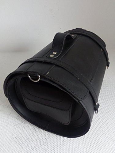 Heckrolle Gepäckrolle Satteltasche Hecktasche Gepäcktasche aus stabilem Rindsleder TB-313