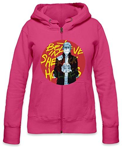 I Believe Spraypain Womens Zipper Hoodie X-Large
