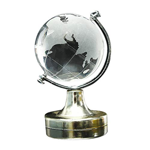 Clear World Map Earth Round Globe Crystal Glass Paperweight Decoration for Gift SuperiorQuality and Creativedurable