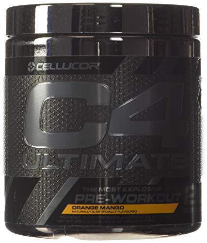 Cellucor C4 Ultimate Pre Workout Powder Orange Mango | Sugar Free Preworkout Energy Supplement for Men & Women | 300mg Caffeine + Beta Alanine + Creatine | 20 Servings