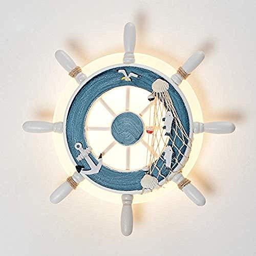 Meixian Wandlamp, voor binnen en rond piraten romperdesign, mediterraan-stijl, Italiaans design, lamp, indoor decoratieve bar wandverlichting voor de slaapkamer, wit Eenvoudig retro