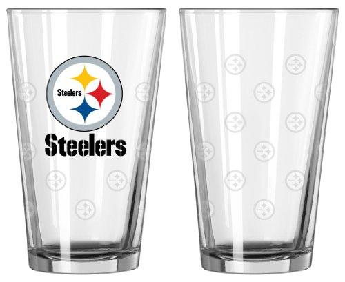 Caseys Pittsburgh Steelers Bierglas, satiniert, geätzt