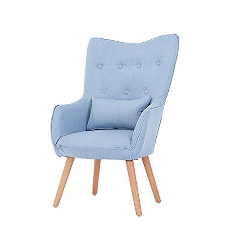 XING ZI LAZY SOFA G-Y Canapé Paresseux, Nordic Tissu Unique Canapé, Chaise D'ordinateur Haut Dossier, Maison Petit Appartement Salon Chambre Canapé (Couleur : Bleu Clair)