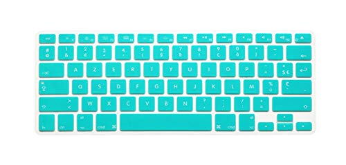 French U.S. Edition Soft Silicone Keyboard protective film For macbook keyboard cover For pro air13' 15Retina display azerty-White orchid