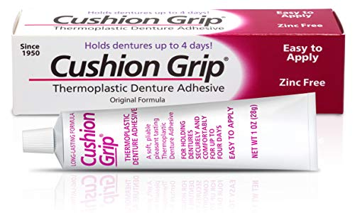 Cushion Grip - a Soft Pliable Thermoplastic for Refitting and Tightening Dentures 1 Oz (28 Grams)